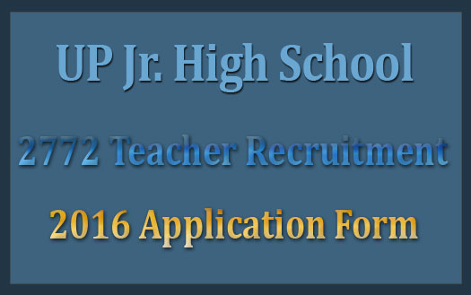 UP junior high school teacher recruitment 2016