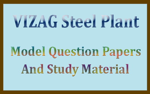 VIZAG steel plant previous question papers pdf