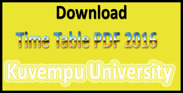 kuvempu university time table 2016