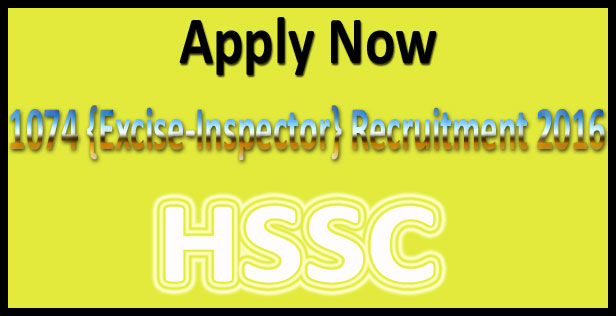 HSSC taxation inspector recruitment 2016