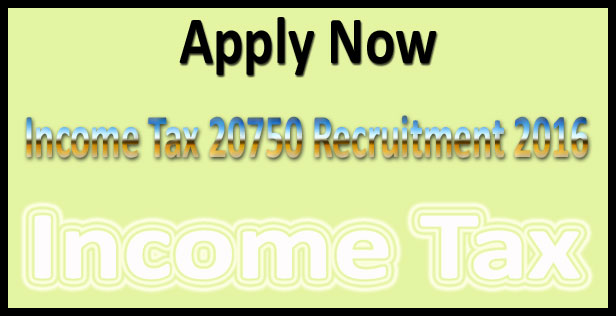 Income tax recruitment 2016