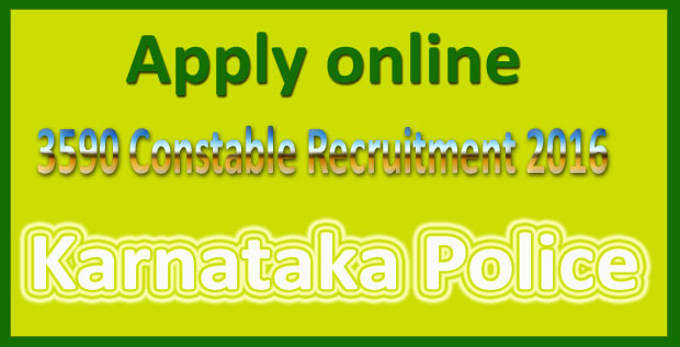 Karnataka police recruitment 2016