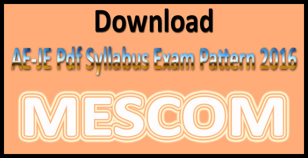 MESCOM syllabus 2016