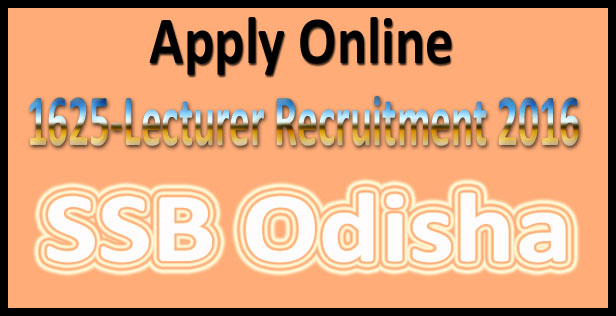 SSB Odisha recruitment 2016