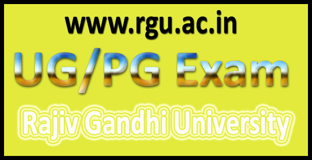 Rajiv Gandhi university time table 2016