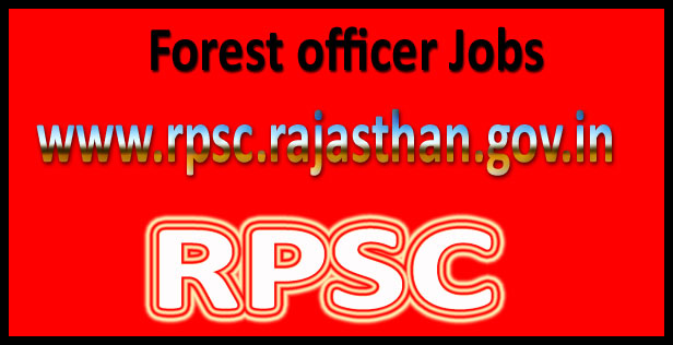 RPSC Forest Officer Recruitment 2016