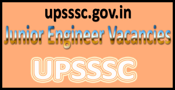 UPSSSC JE recruitment 2016