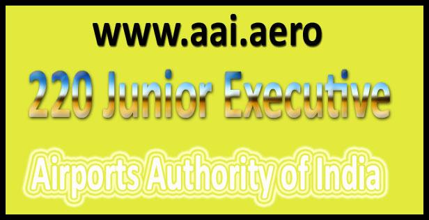 AAI junior executive recruitment 2016