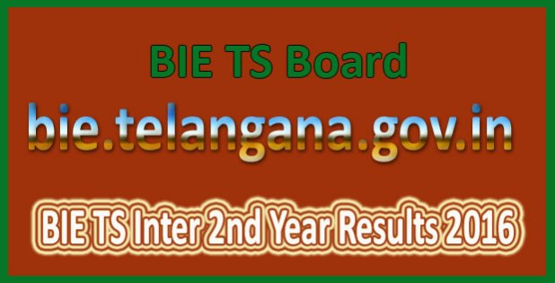 BIE TS Inter 2nd Year Results 2016