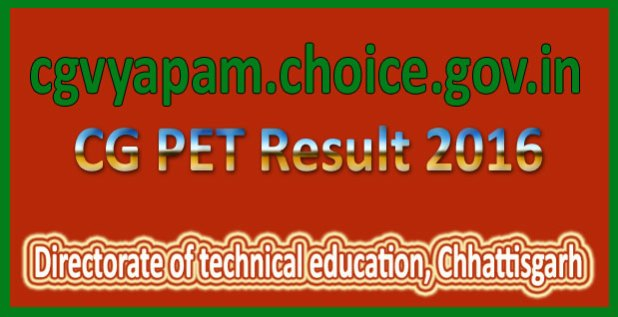 CG PET Result 2016