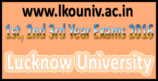 Lucknow University Admit Card 2016
