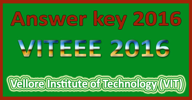 VITEEE Online Exam Answer Key 2017