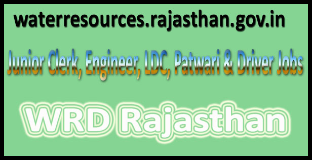 WRD Rajasthan recruitment 2017