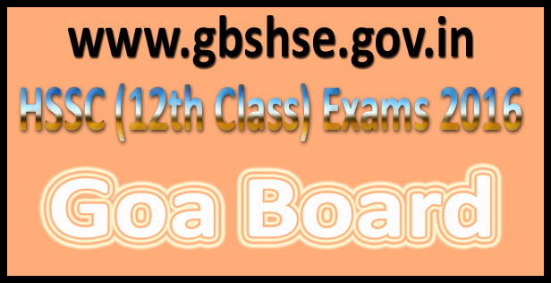 GBSHSE HSSC Results 2016