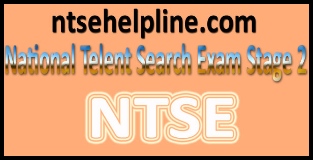 NTSE Stage 2 Results 2016