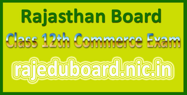 RBSE 12th Commerce Result 2016