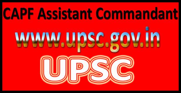 UPSC CAPF AC Result 2016
