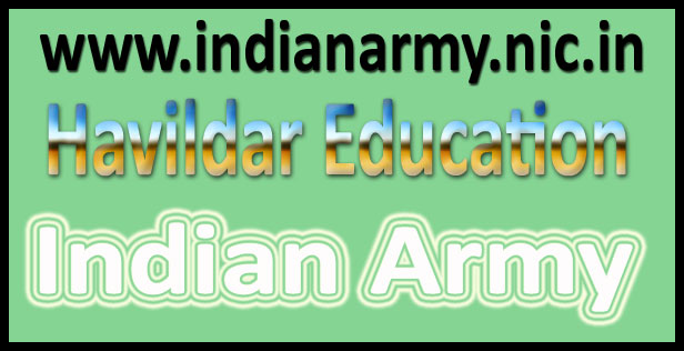 Indian Army Havildar education Result 2016