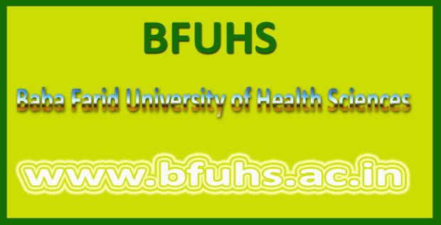 BFUHS Date Sheet 2016