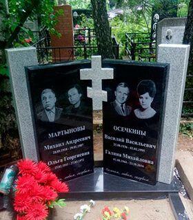 Двойные памятники на могилу - фото и цены в каталоге
