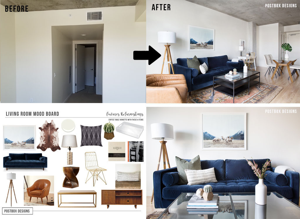 Postbox Designs Interior E Design Modern Boho Living Room Makeover And Mood  Board