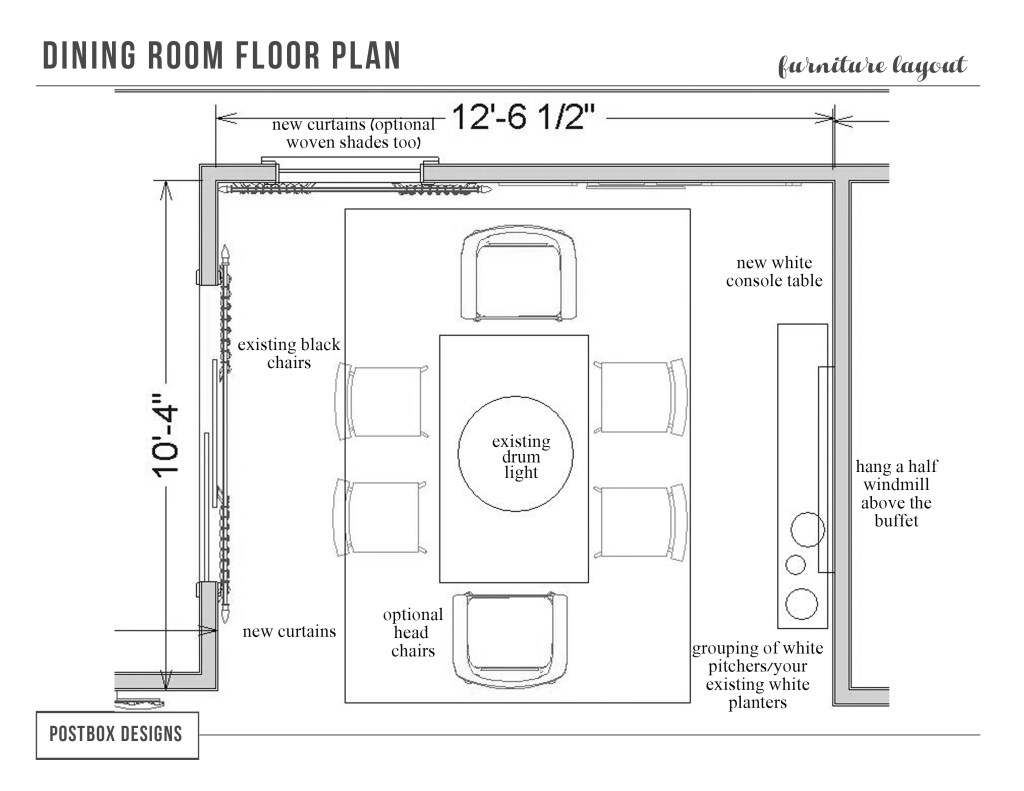 dining room floor plans real postbox project fixer style dining room 17306