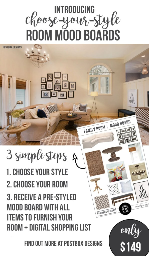Pre styled choose your style design mood boards for 149 choose from
