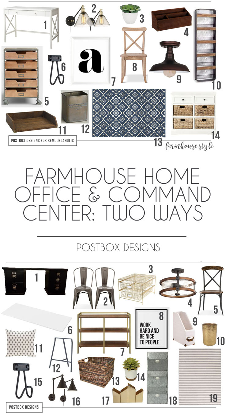 Postbox Designs Farmhouse Home Office And Command Center