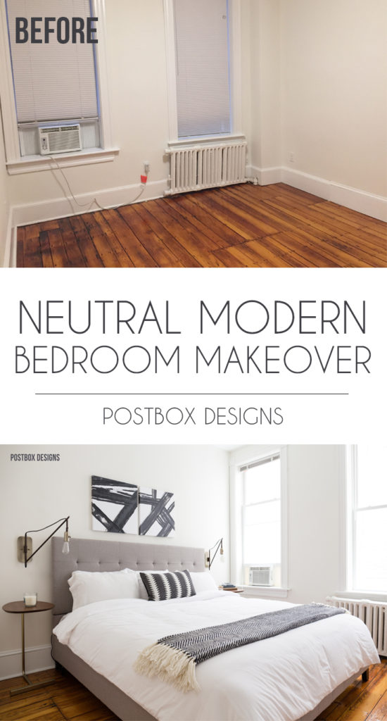 Neutral Modern Boho Bedroom Makeover Reveal: See the Before ...