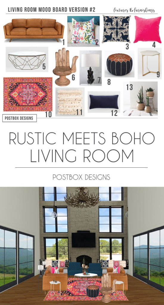Rustic Boho Living Room Ideas: The #1 Design Trend You Will See In 2018 + Project Reveal