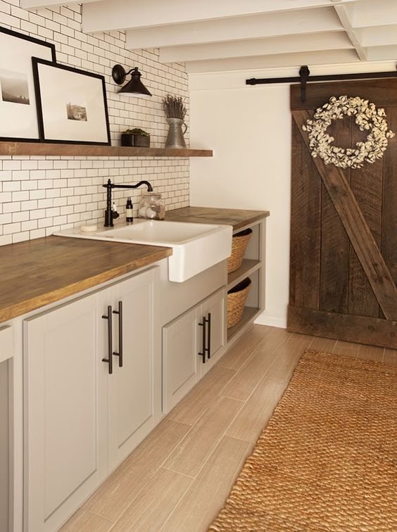 Modern Farmhouse Laundry Room Ideas Postboox Designs E Design