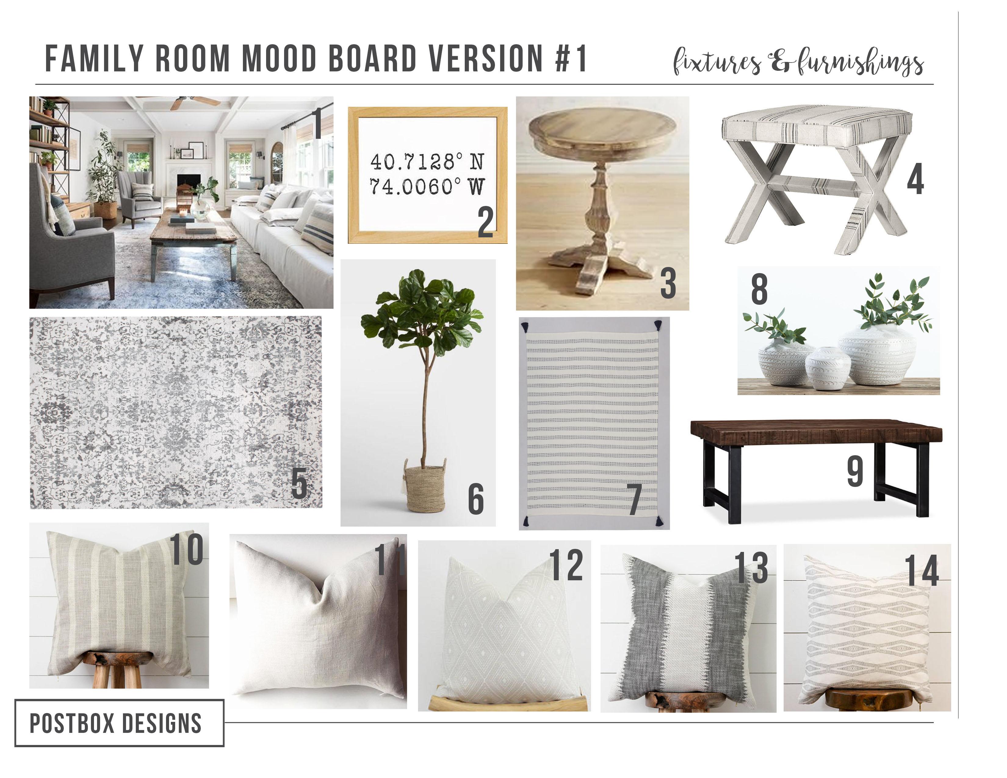 Modern Farmhouse Living Room Via Online Interior Design