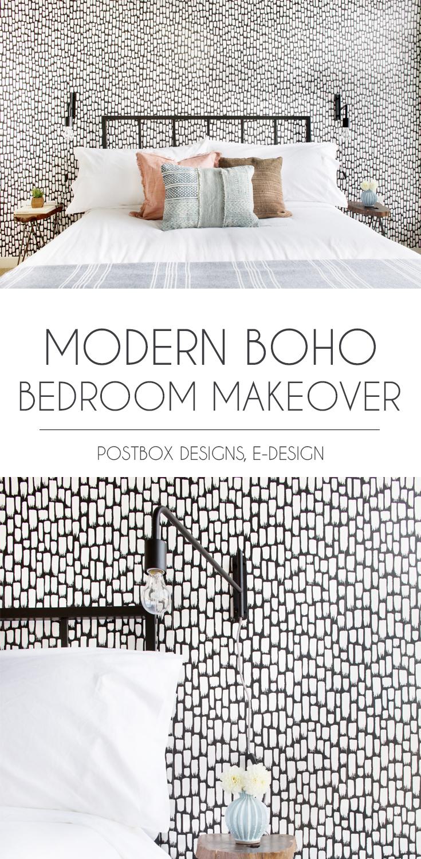 Postbox Designs Interior E Design Modern Boho Bedroom Decor With