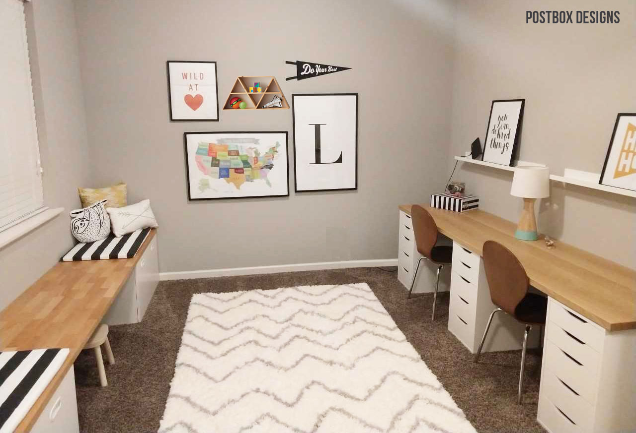 BIG REVEAL: See How to Turn an Extra Room Into a Playroom & Homework ...