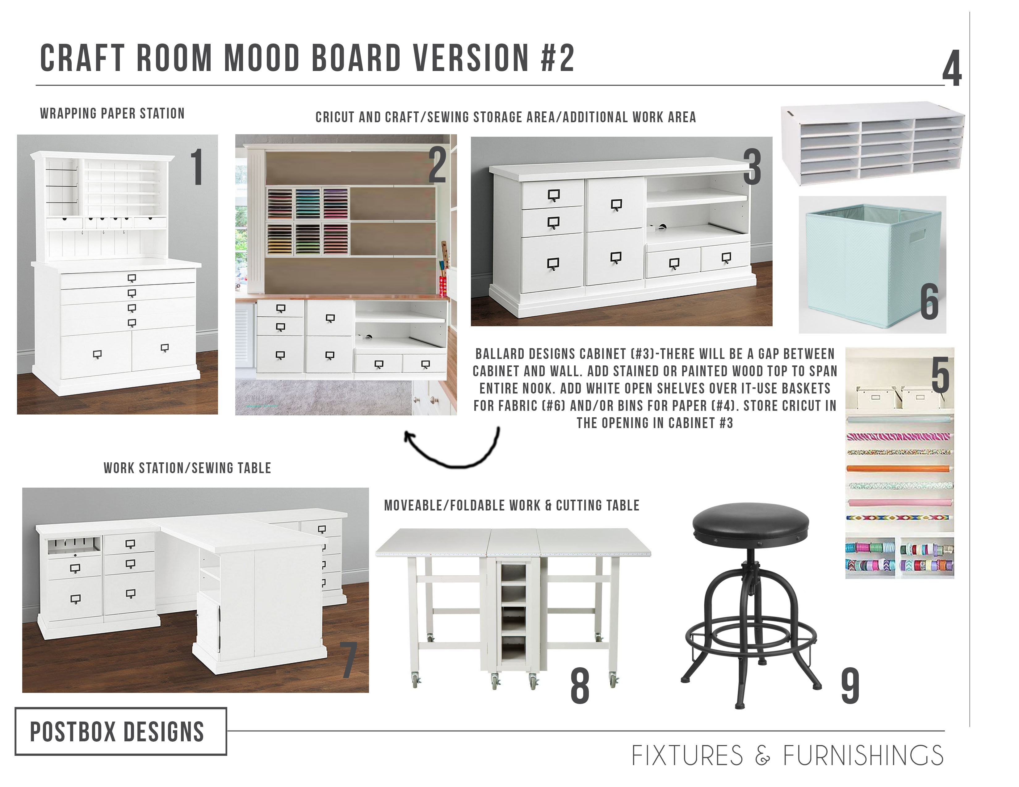 Sewing Room Designs: Copy This Craft & Sewing Room Makeover!