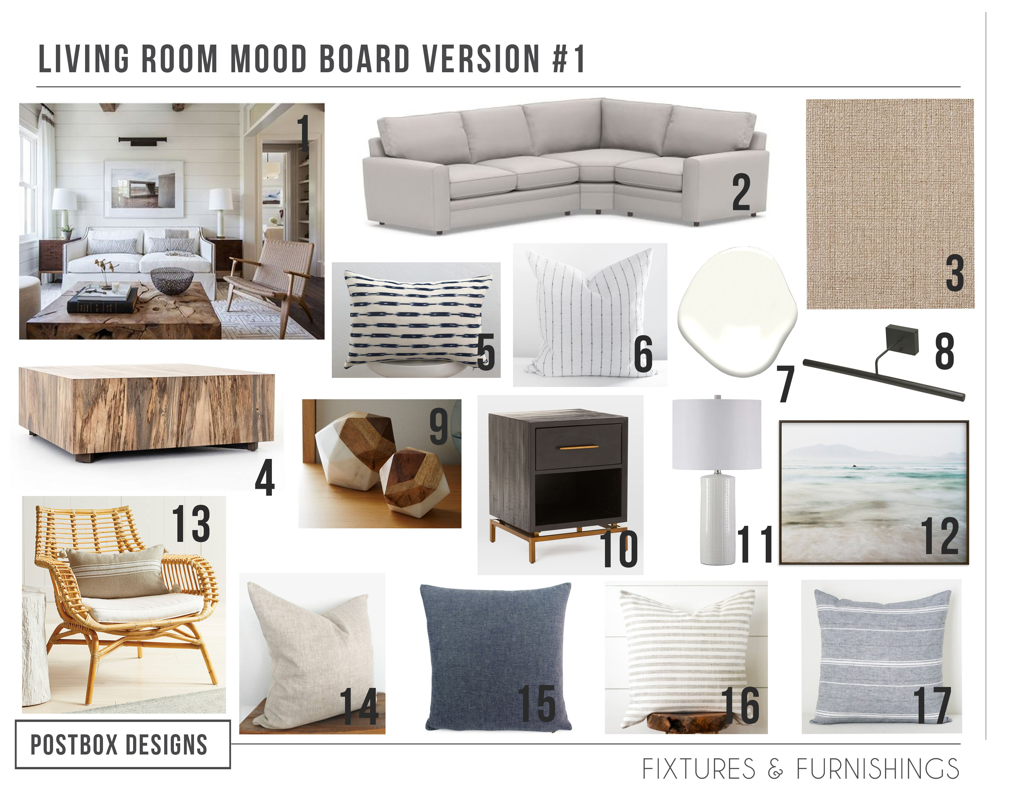 Get the Modern Coastal Look for your Living Room (Minus the