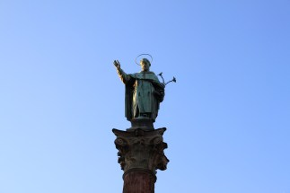 One of the numerous statues in Bologna