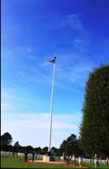 At the American cemetery in Normandia (Omaha Beach)