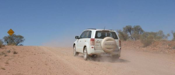 Suzuki Vitara on outback gravel road