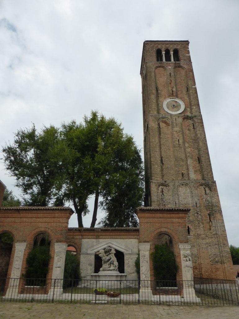 bell tower at basilica in murano