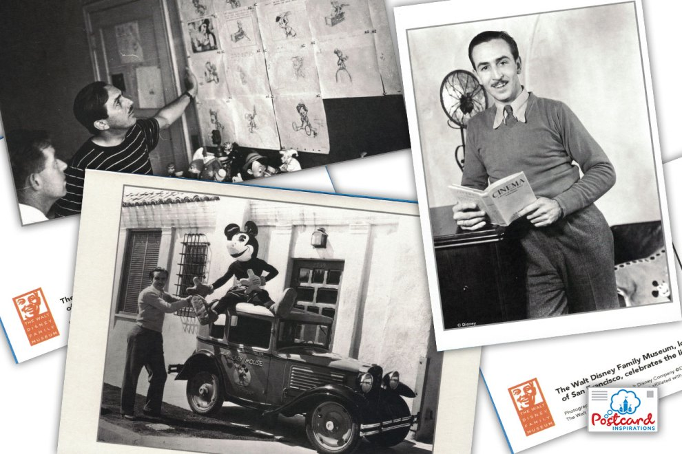 Postcards from The Walt Disney Family Museum, located in the Presidio of San Francisco, celebrates the life and work of Walt Disney.
