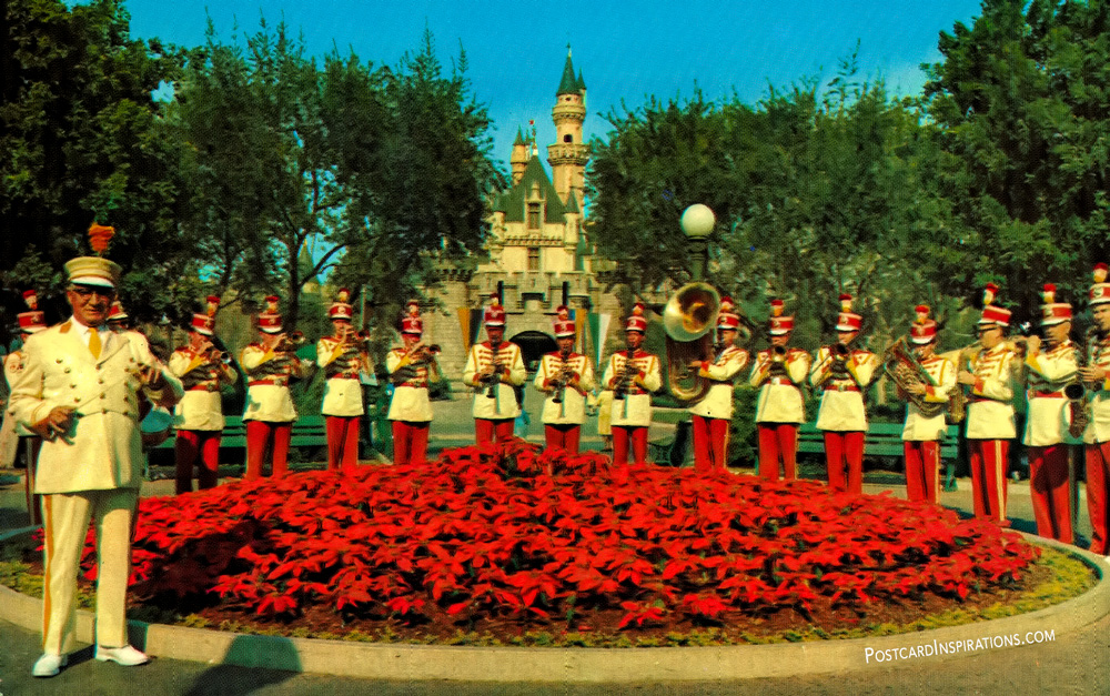The Disneyland Band with Director Vesey Walker (Postcard)