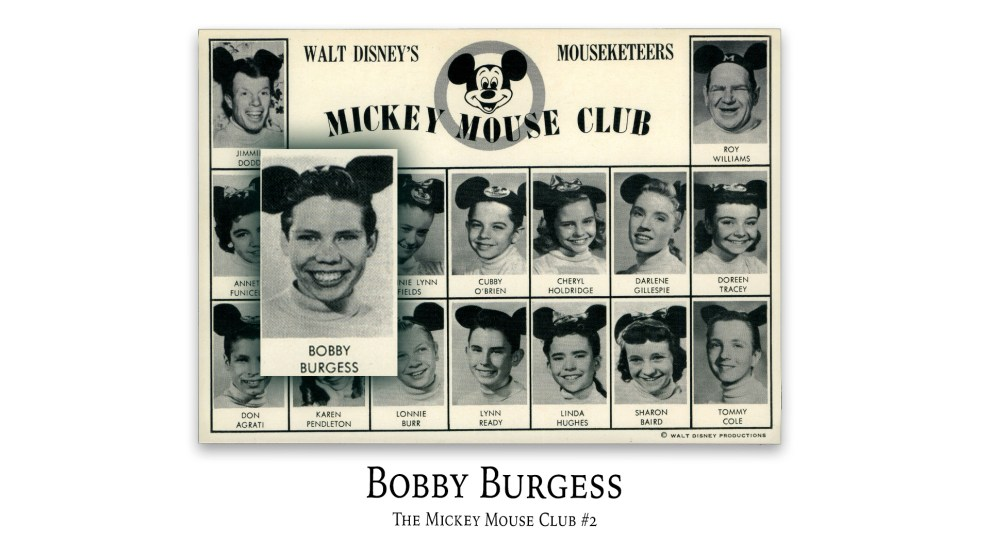 Bobby Burgess: The Mickey Mouse Club #2