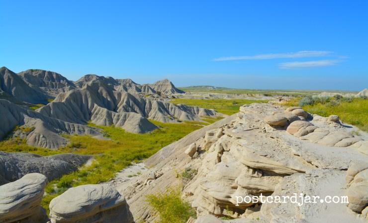 A view at Toadstool Geologic Park in northwest Nebraska. (photo by Ann Teget for www.postcardjar.com)