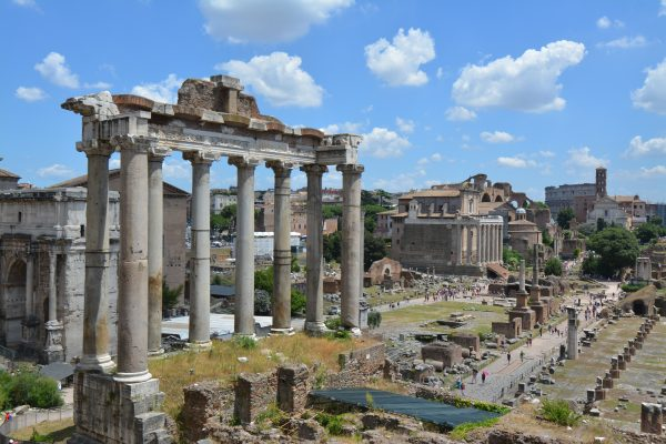 Our view of the Forum in Rome, Italy, seemed like it was right of a history book.