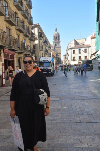 Meghan studied Spanish Salamanca, Spain.