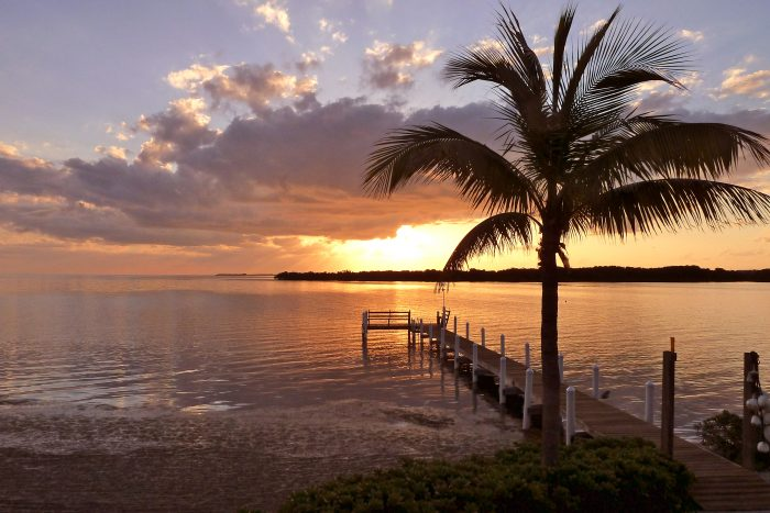 A day of rejoicing with the sunrise on Easter morning from the Florida Keys.