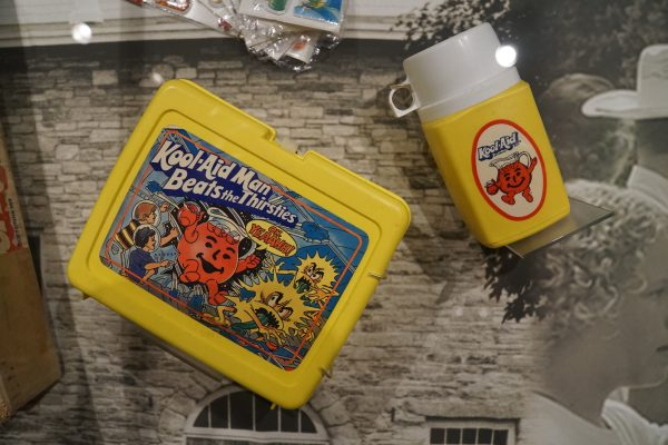 Kool-Aid marketing was everywhere when I was a kid. Lunch boxes, Barbie dolls, sno-cone machines. etc.