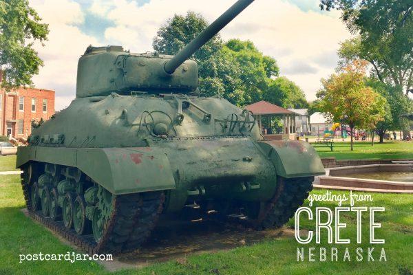 Sherman Tank at City Park in Crete, NEb.