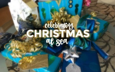 Celebrating Christmas at sea